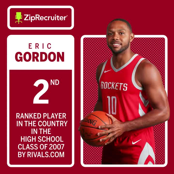 The scouts were spot-on when evaluating @TheofficialEG10's next-level talent.   The @IndianaMBB one-and-done has played a decade in the League and currently hoops for the @HoustonRockets. 🚀  BTN x @ZipRecruiter