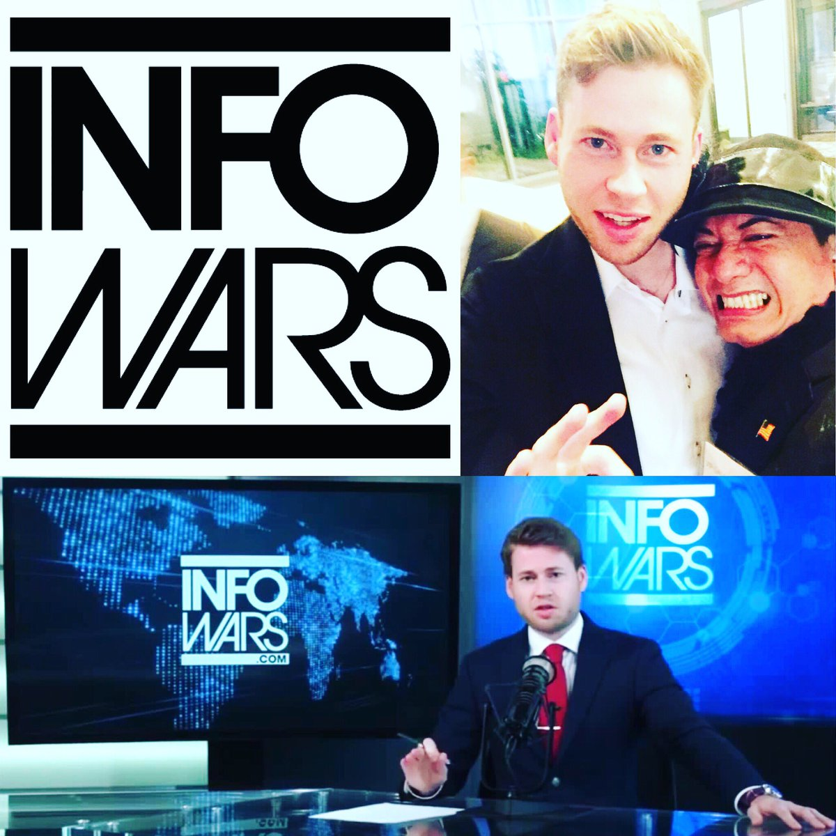 INFOWARS! Watch Us &amp; Stay Tuned, Host Owen Shroyer with Amazing Recording Artist Ricky Rebel today at 5:30 Eastern Time, but wait there's more! #infowars #realnews #news #americafirst #proudamerican #blessed #honored #grateful #kag #maga #usa <br>http://pic.twitter.com/bHhNonAkUP