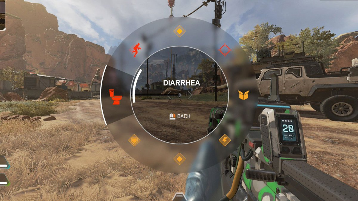 Encouraging Teamwork: 'Apex Legends' Has A Button That Lets Players Easily Announce They Have Diarrhea And Won't Be Shooting Anyone For A Few Minutes  http://clckhl.co/zCzVlit