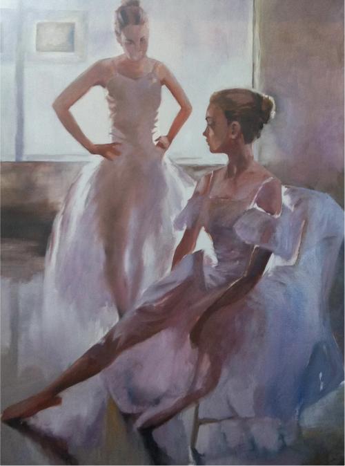 Ballet Dancers ~ #Artist Brigitte Dawson.  Fine #art tips and a fabulous art lesson with Brigitte Dawson on Colour In Your Life!   https://www. youtube.com/watch?v=cLhx4g JFF48 &nbsp; …   #artisttowatch #artoftheday<br>http://pic.twitter.com/JcpHqek3dF