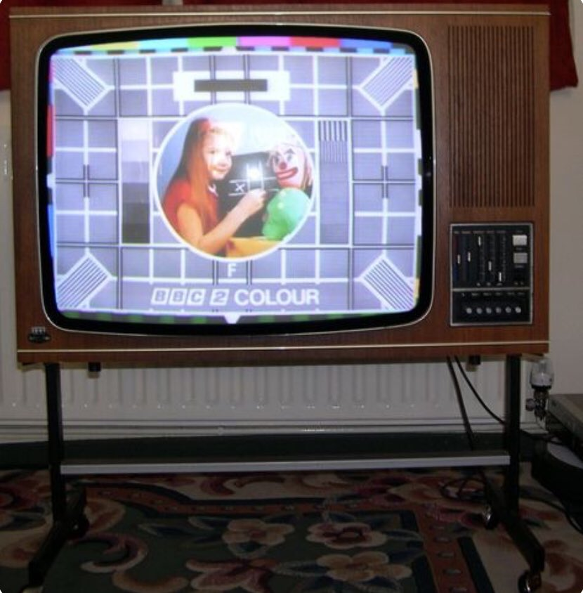 Did you spend hours looking at this picture on a TV like this whilst waiting for your favourite programme to start?