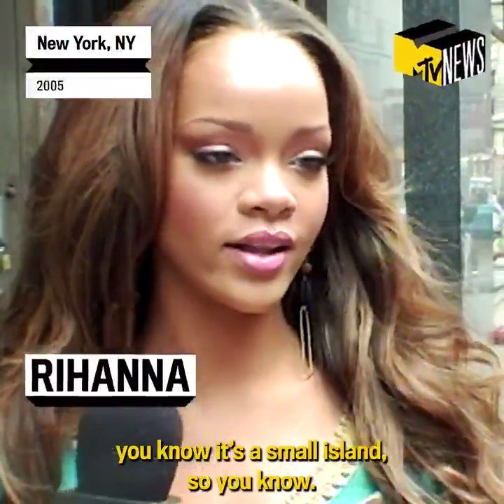 "We celebrate @rihanna's birthday with a throwback to our first interview with her on the streets of New York in 2005, as she was getting ready to release ""Pon de Replay."" HBD RiRi!"