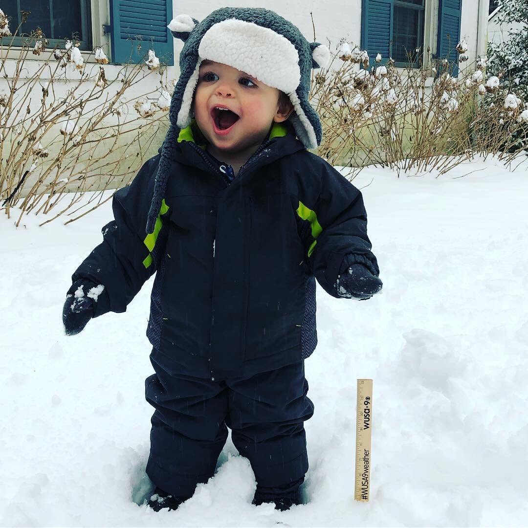 Jack's favorite part of the snow might be his #WUSA9 snow ruler  #WUSA9weather #mdwx @wusa9<br>http://pic.twitter.com/jqUjIdvBTS
