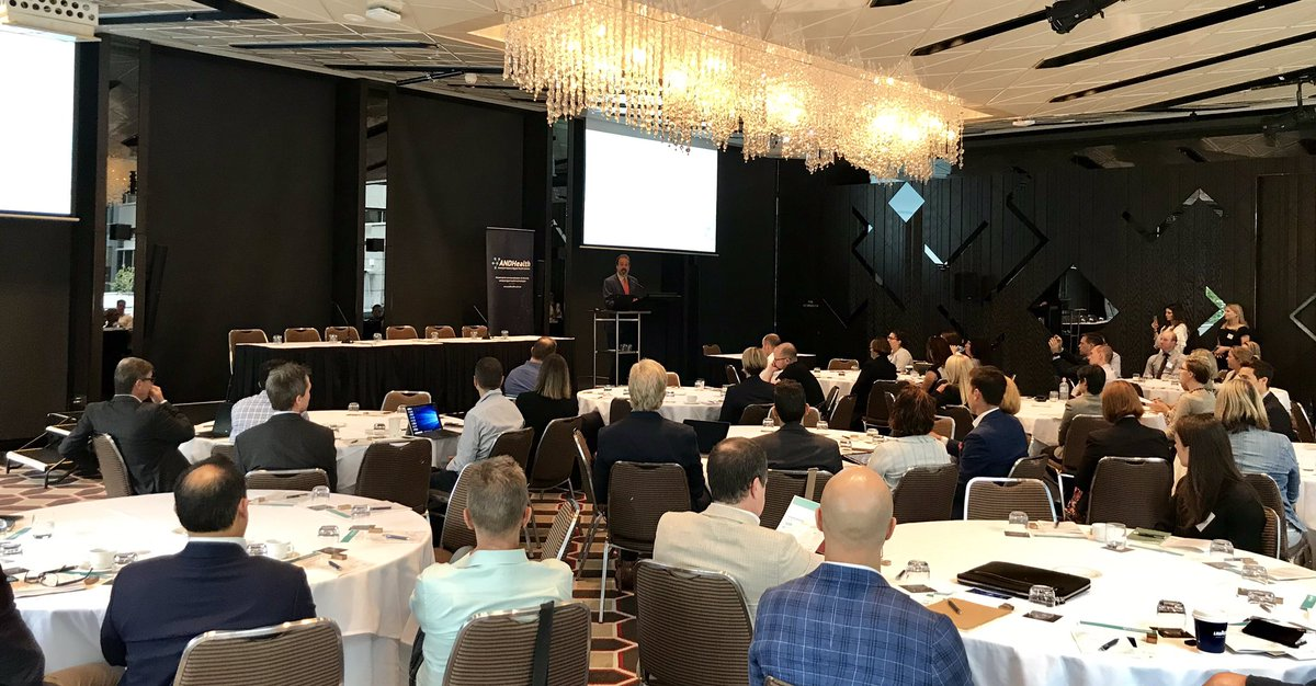 It is a full house here as @MartinPakulaMP opens the #ANDHealthSummit for a full day of digital health with a room full of industry leaders. @ANDHealthAU