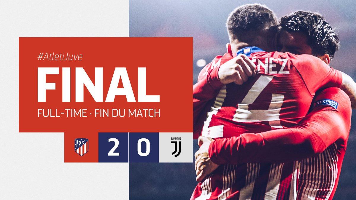 Xem lại Atletico Madrid vs Juventus, 3h00 ngày 21/2 (Champions League)