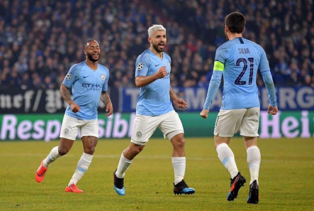أهداف مباراة مانشستر سيتي وشالكة (3-2) في دوري أبطال أوروبا