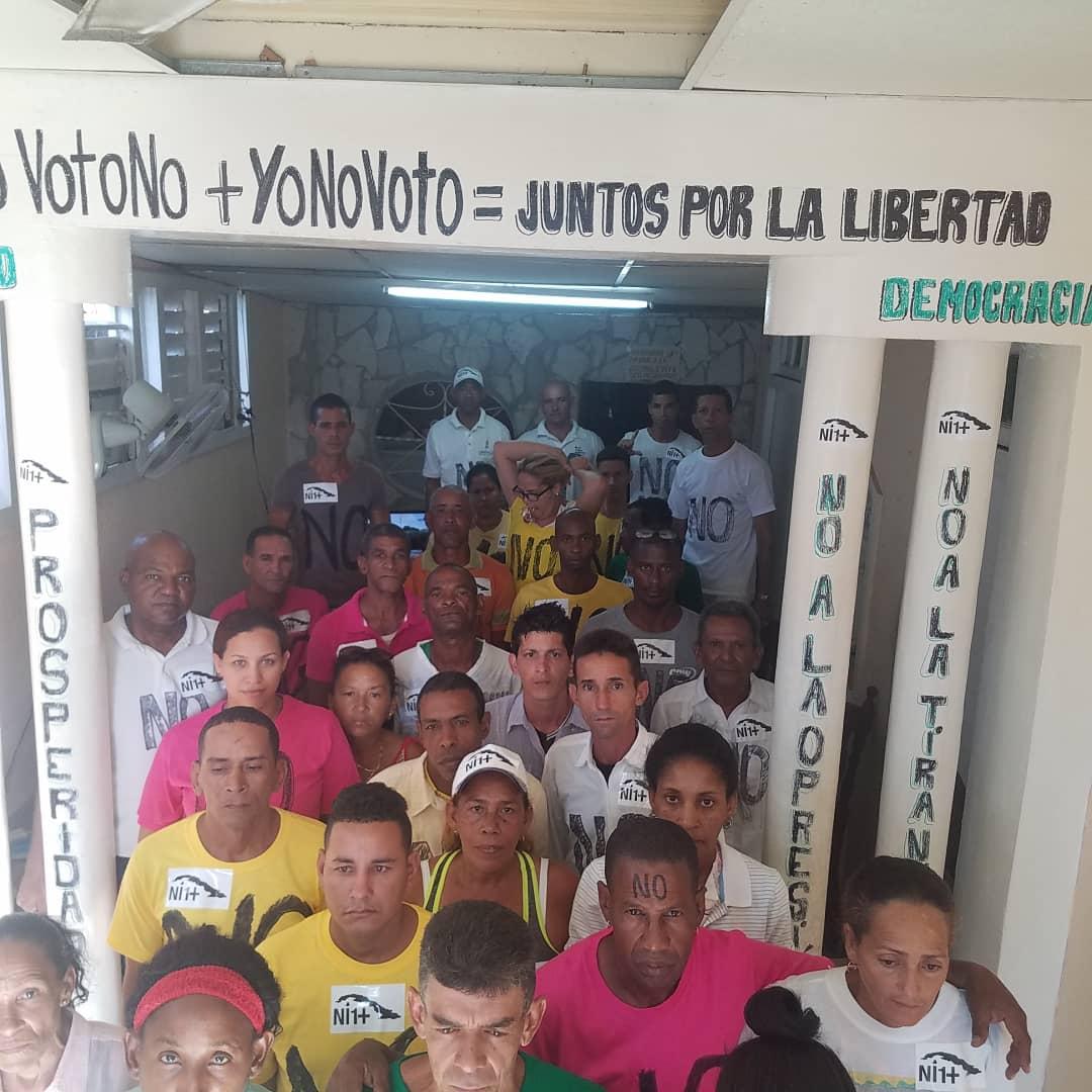 Huelga de hambre de UNPACU por #YoVotoNO