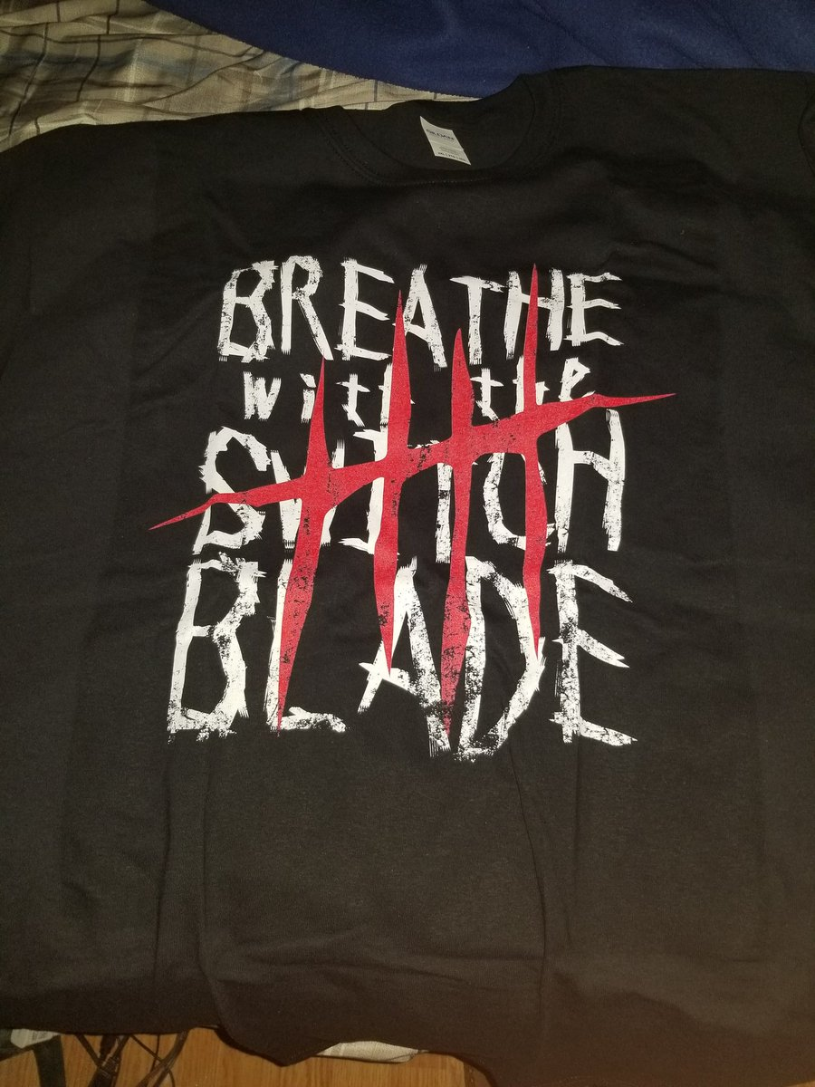 Finally came in. From now til forever I will #BreatheWithTheSwitchblade #BulletClub <br>http://pic.twitter.com/ymSj7lFY5Z