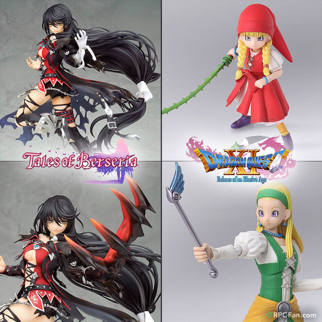 #Talesof Berseria's lethal heroine Velvet gets a stunning figure (with demon arm attachment!) and the #DragonQuest XI sisters finally join the rest of the gang with their own action figures! ►Velvet http://bit.ly/2SNti9k ►Veronica+Serena http://bit.ly/2GZiOMO