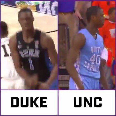 Some of our guys know all about the rivalry 😤 Who ya got?   🎥 | @theACCDN / @DukeMBB