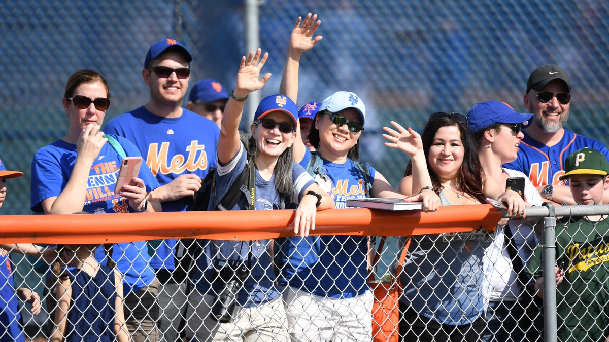 #Mets fans are the best! It's great to see all of you in Florida supporting us as we gear up for our first #SpringTraining game.