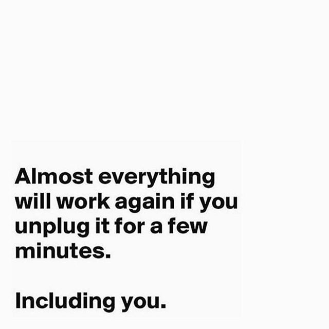It's Time  To Unplug... #WednesdayMotivation  #LongDay