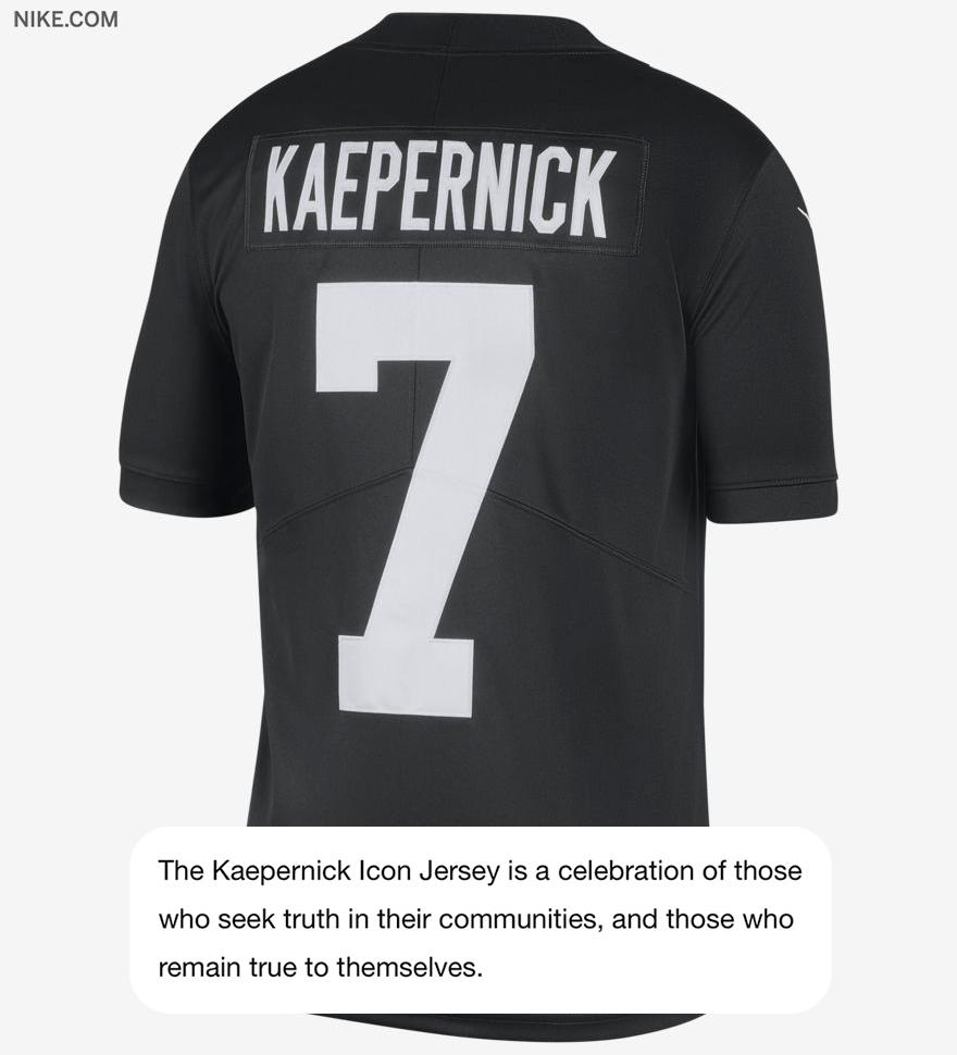 Nike dropped a limited edition 'True to 7' @Kaepernick7 Icon jersey on Wednesday.
