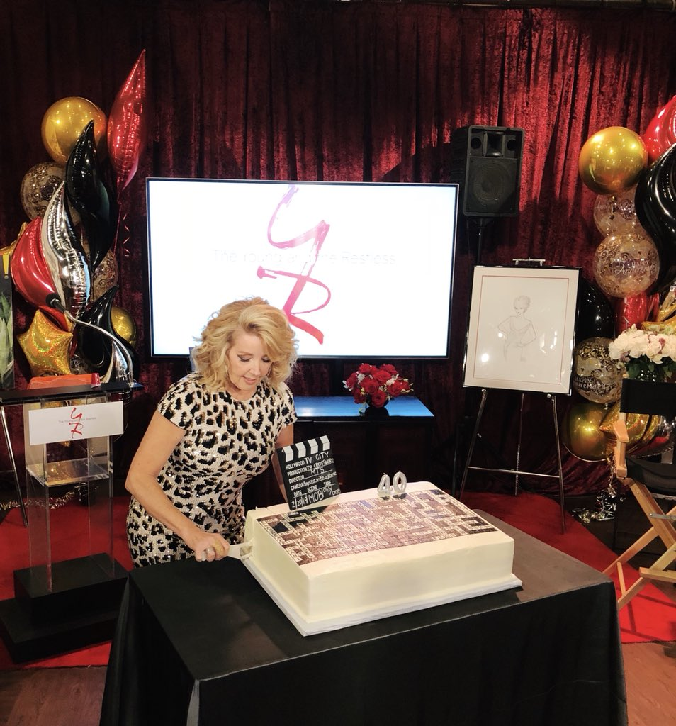 Today we celebrate 40 years of the one and only Nikki Newman. Join us in sending your congratulations to @MelodyThomasSco! 🎉 #YR