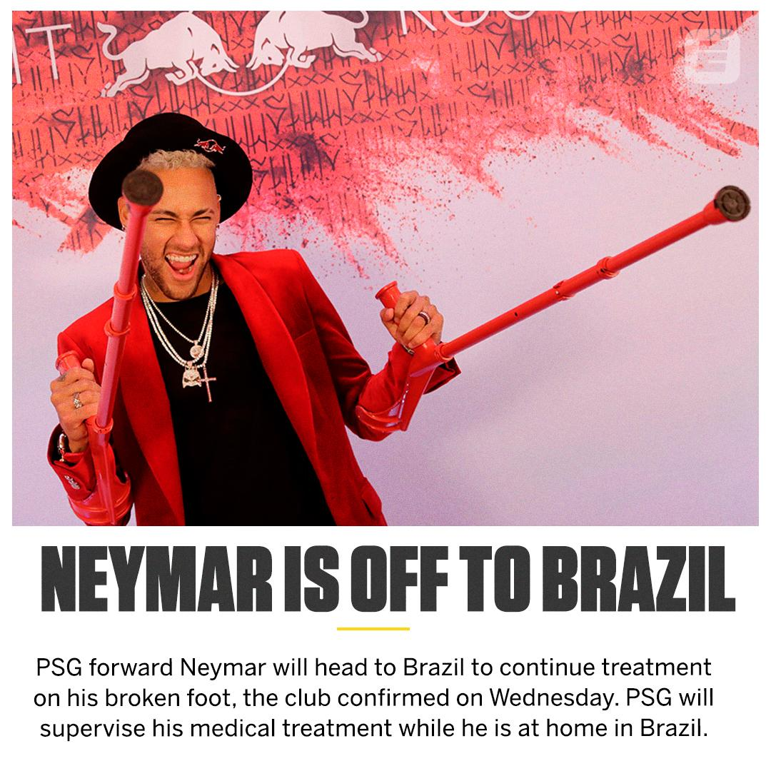Neymar is going home ✈️🇧🇷☀️