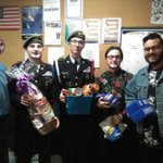 Image for the Tweet beginning: Recently, WHS JROTC Cadets donated