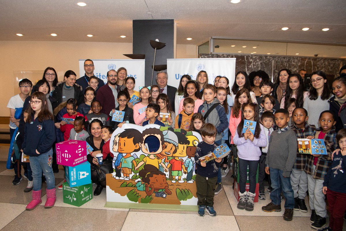 It was a pleasure welcoming these young visitors to the UN on @VisitUN Kids Day. It is never too early to start learning about the UN's work around the world  – and for us to start learning about your hopes and dreams for the future.  http://bit.ly/2EA8dYY