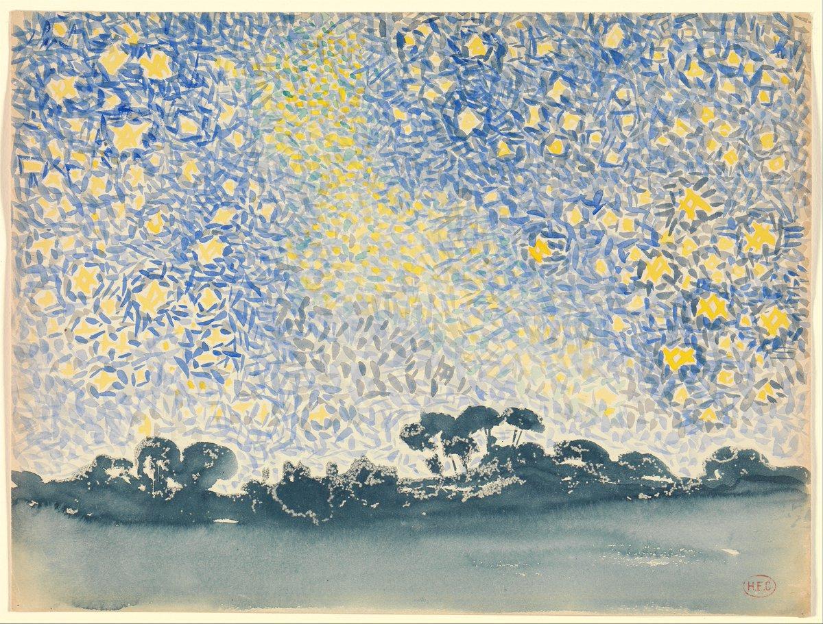 RT @met_lehman: Landscape with Stars by Henri-Edmond Cross #metmuseum #lehmancollection https://t.co/PFKLxytBco