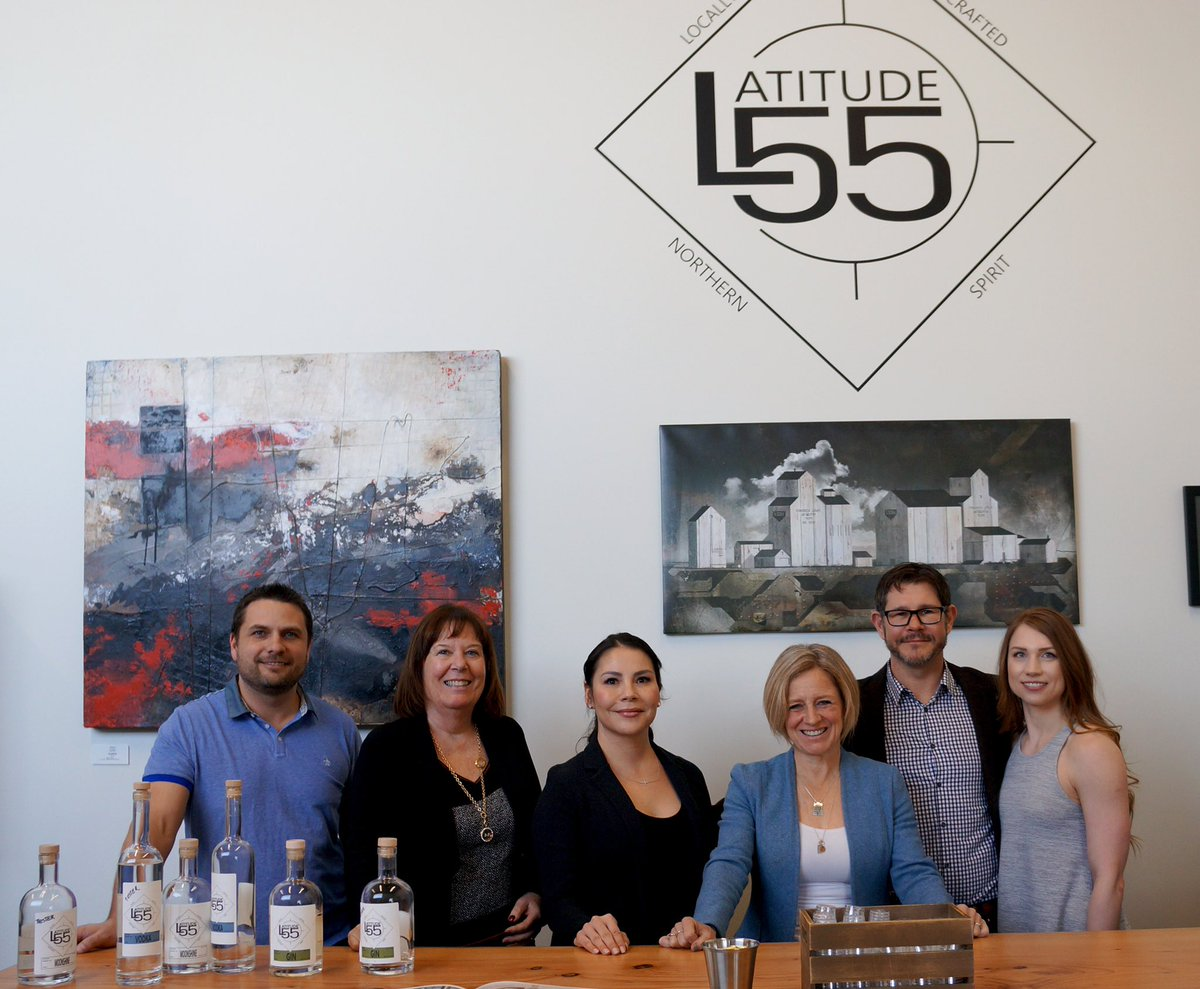 Stopped in to check out #Latitude55 - a new distillery in Grande Prairie (it was too early to sample, but smells great!). They're a new business who pay more than minimum wage - even to their new workers. They believe in investing in their workers & in their community.  #15ForAll