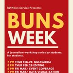 Image for the Tweet beginning: #BUNSweek is here! A journalism