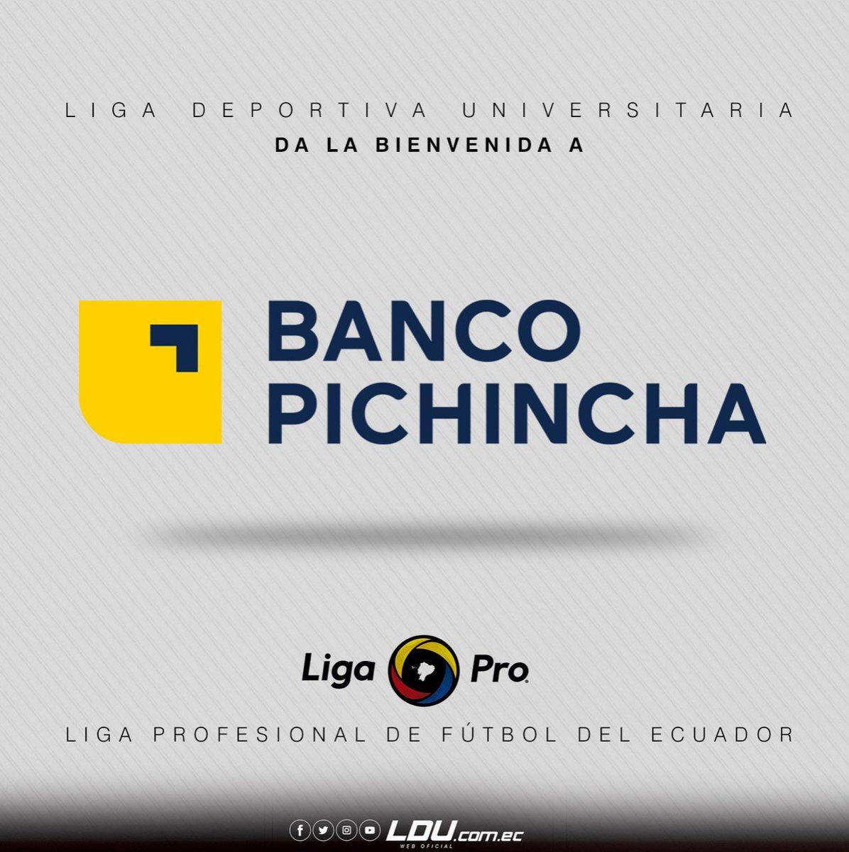 ¡Bienvenidos @BancoPichincha a la @LigaProEC!  ¡Estamos seguros que le darán un gran #Impulso al fútbol ecuatoriano! 😎