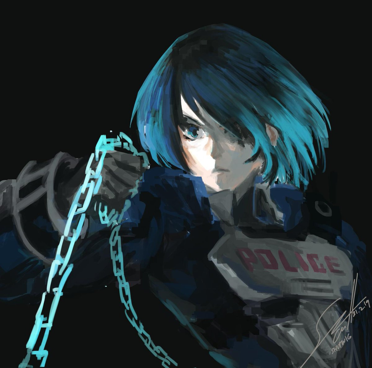 Sketch for ASTRAL CHAIN. I've seen the trailer like a hundred times already...