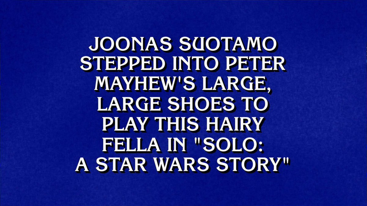 So did you happen to catch me on @jeopardy earlier?