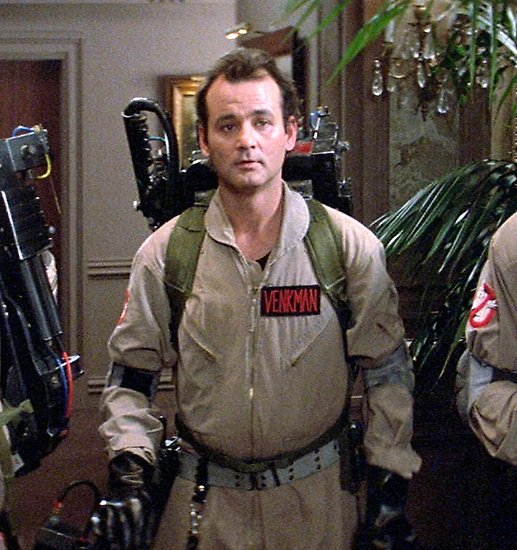 Y&#39;ever stop to think about how we all just collectively never questioned the animated Ghostbusters series deciding Bill Murray looked like young Bruce Campbell? <br>http://pic.twitter.com/KOq5XQ9PsZ