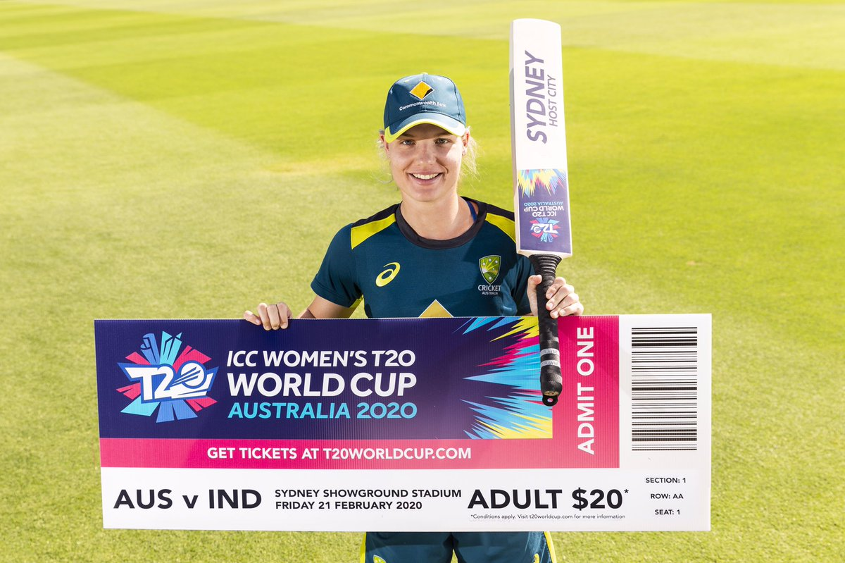 One year to go until the Women's #T20WorldCup kicks off at Spotless Stadium! 🇦🇺🇮🇳 Secure your seat today: http://tickets.t20worldcup.com  #ThunderNation