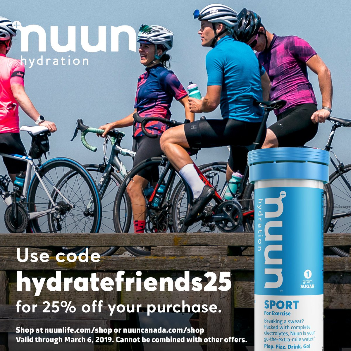 Stay hydrated my friends!! ⠀ Use code: HYDRATEFRIENDS25 for 25% off your purchase! (valid through March 6th) ⠀ #nuun #nuunlife #nuunbassador #teamnuun #makeyourwatercount #nuunies #hydrate #promocode<br>http://pic.twitter.com/DyZKXwMp92