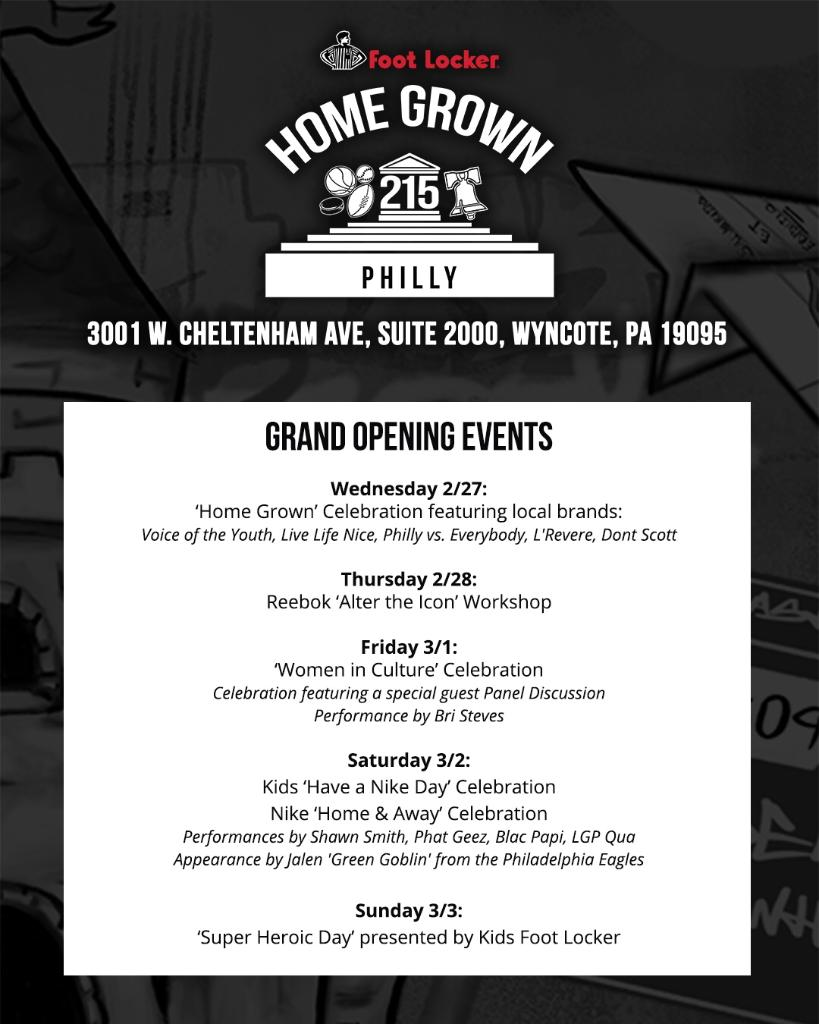 7a3a06932b ... the NEW Foot Locker Cedarbrook Power Store. Mark your calendars and  come kick it with us. Follow IG: footlockerphilly for more details.pic. twitter.com/ ...