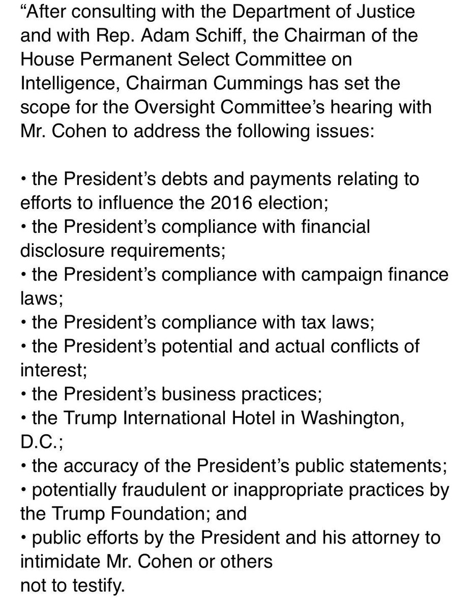 Folks,  if Cohen's been cleared by the DOJ to talk about all this,  Trump's in a world of trouble.