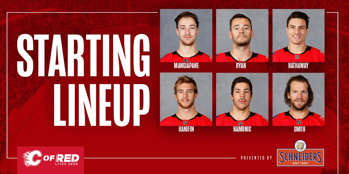 Tonight's starting lineup, brought to you by @Schneiders!  #NYIvsCGY | #Flames