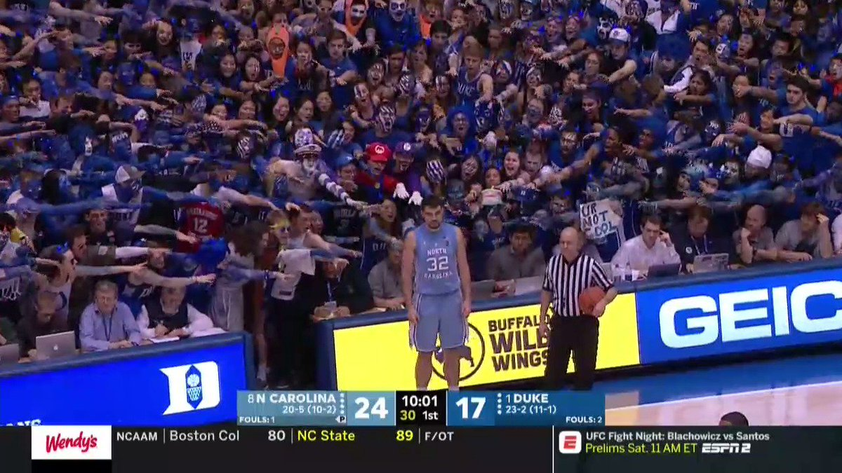 Just a typical scene at Cameron Indoor