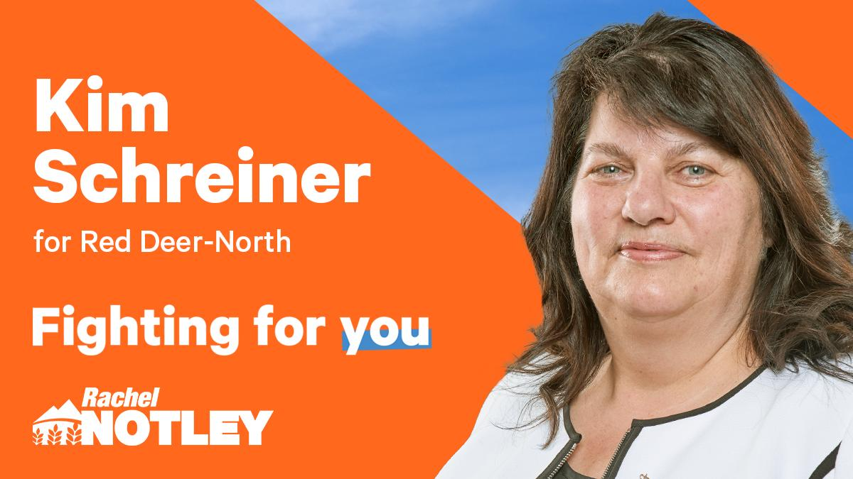 Congrats to Kim Schreiner! Our nominated candidate for Red Deer-North.  #ableg #abndp #abpoli #RedDeer #FightingForYou #TeamNotley