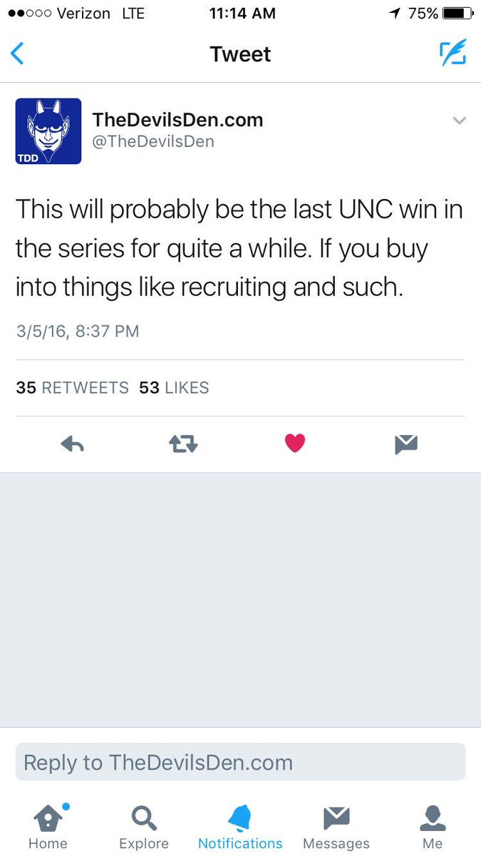 Hey @OldTakesExposed I have a take to report. UNC is 4-3 since this (since deleted) tweet.