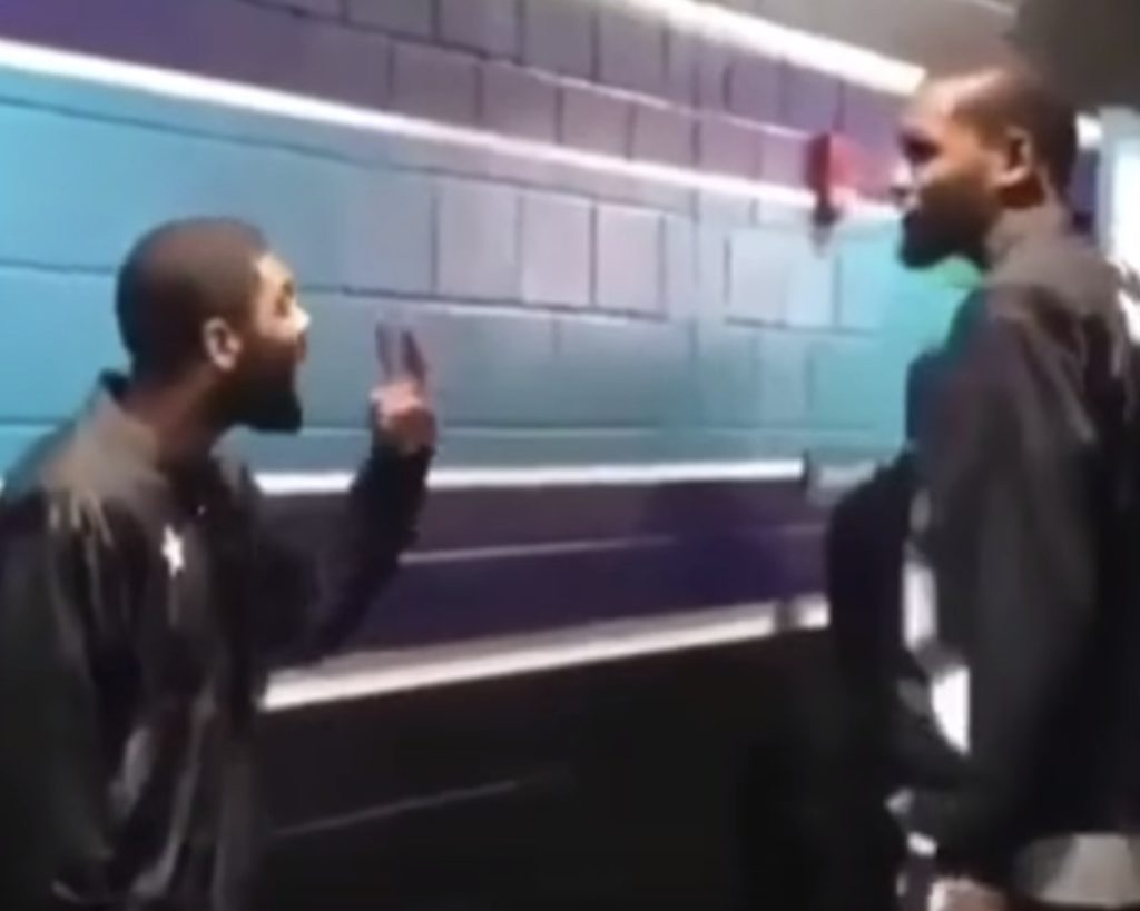 "Kyrie Irving is Very Upset At the ""2 Max Slots"" Zapruder Film of Him and KD, See Who He Blames For It (Video) http://bit.ly/2ItIyU3"