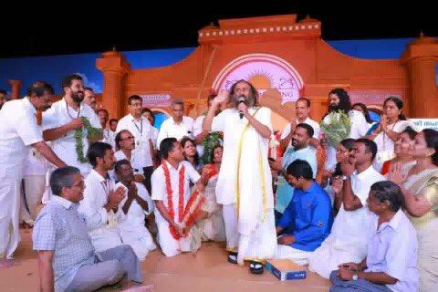 Gurudev @SriSri inaugurated @ArtofLiving TOK #Pattazhi in yesterday's Satsang @ #Kollam