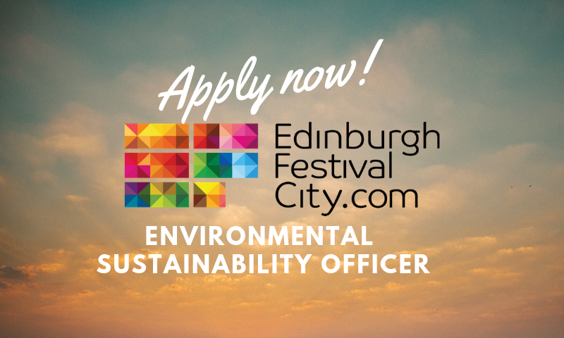 Could you help 11 major festivals including @edfringe, @edintfest, @edfilmfest in their ambitions to make #Edinburgh the world's leading green festival city?  Apply now to be @edfests Environmental Sustainability Officer!  http://bit.ly/2V5WPrr   #GreenArts #SustainabilityJob