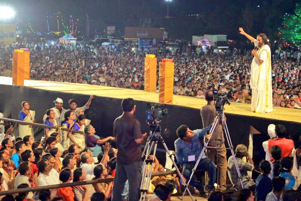 MahaSatsang with #Gurudev @SriSri ji in #Kollam  #SriSriInKerala