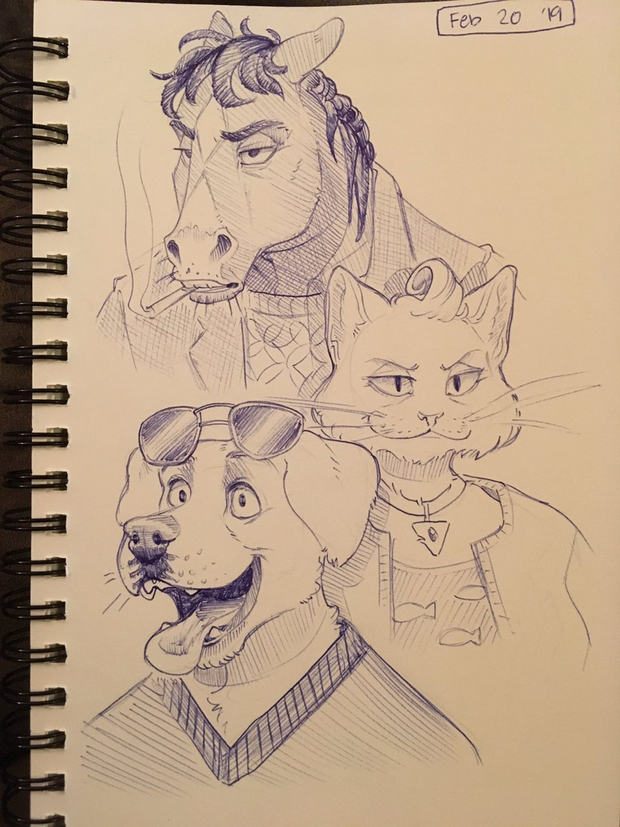 ive been binging it so like why not! plus i found one of my old sketchbooks  #BoJackHorseman <br>http://pic.twitter.com/UAaLYpv3Bq