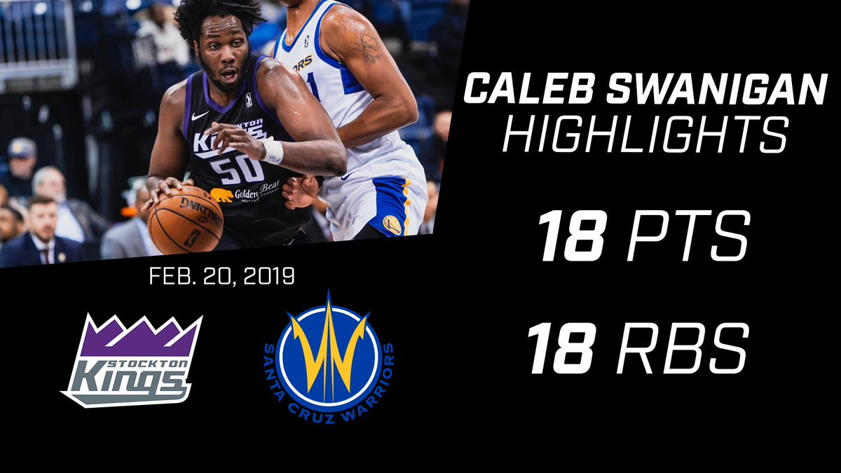 The big man had a big game in his Stockton Kings debut 😤   👑 18 points - 18 rebounds 👑