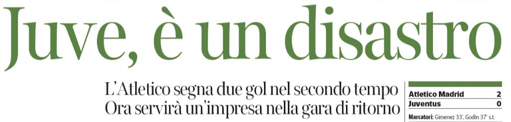 #Juve è un disastro  (#CorSera)