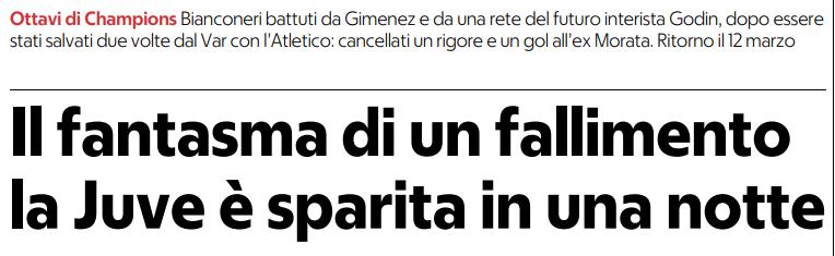 Il fantasma di un fallimento. La #Juve è sparita in una notte  (#Repubblica)