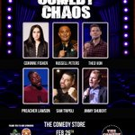 Image for the Tweet beginning: Tuesday night Comedy Chaos is