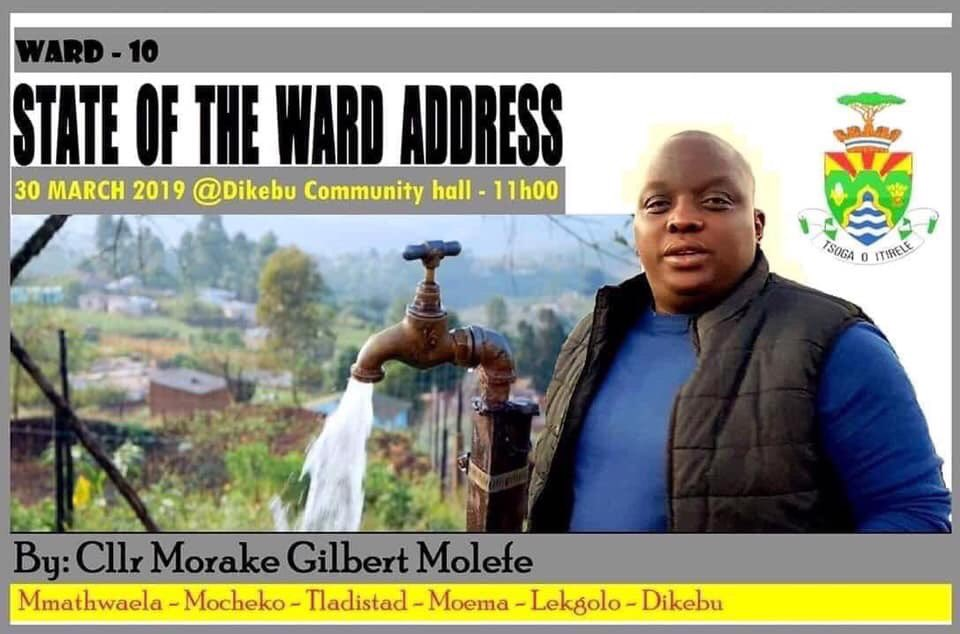 Is this man a megalomaniac or is he a ward councillor who's accountable to his constituency? The only way to find out is to attend or follow the address. If I were a journalist I'd report on this. It could well be a game changer in the governance wards across the country 🤷🏾‍♂️