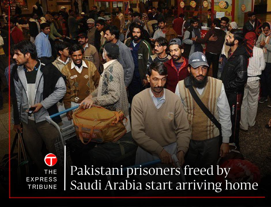 Five #Pakistani prisoners landed in #Lahore from #Jeddah. Ecstatic family members lauded the premier's efforts to bring their loved ones back home  https://t.co/5azwk0TG7t