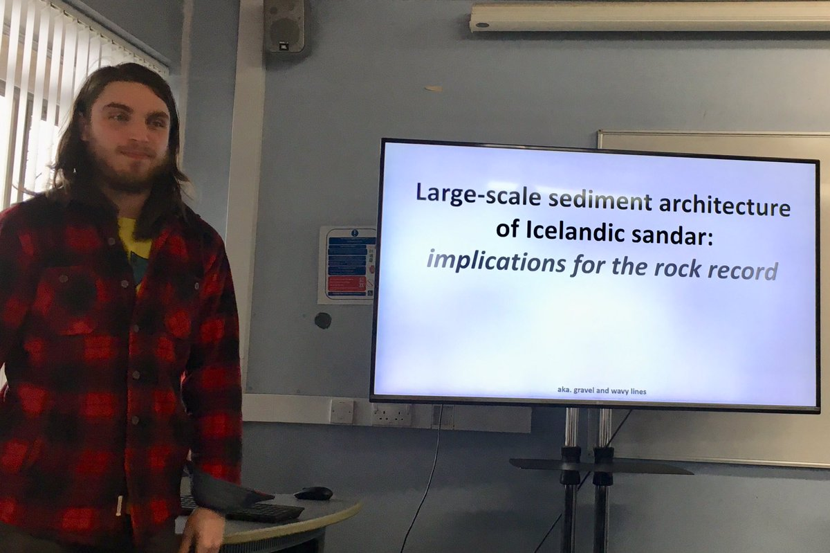 Great talk by @DevinH_13 on his @IapetusDTP funded PhD topic #Geophysics #Skeiðarársandur #Iceland @NCLPhysGeog