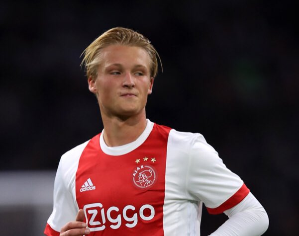 Manchester United have re-entered the race to sign Ajax starlet Kasper Dolberg. United have joined Napoli and Arsenal for the star's signature. (Express) #MUFC #AJAX