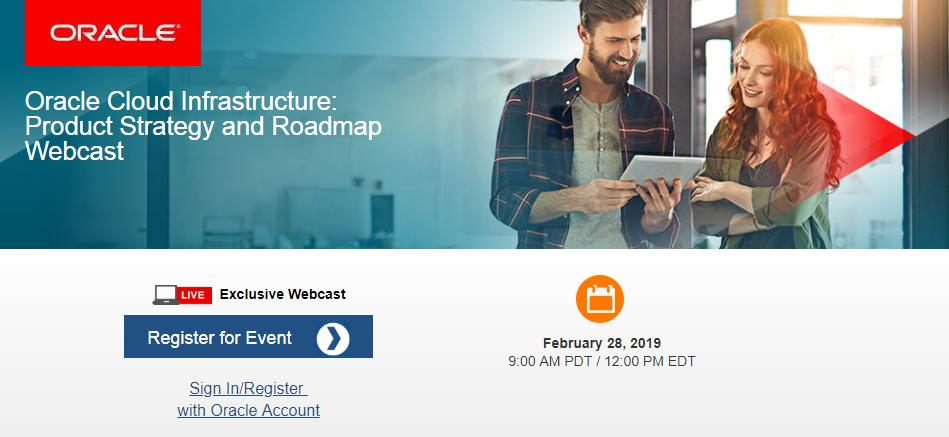 DON&#39;T FORGET - Next week: JOIN @OracleCloud Infrastructure product dev team - next exclusive #emeapartners #webcast Review Roadmap, Strategy &amp; Recent Enhancements to #OCI @Oracle &#39;s leading enterprise #IaaS offering. REGISTER here:  http:// bit.ly/2U1bWCj  &nbsp;   @Oracleemeaps @fjtorres<br>http://pic.twitter.com/NCVuJ6SiOX